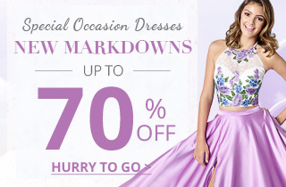 New Markdowns On Special Occasion Dresses