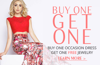 Buy One Occasion Dress, Get One Free Jewelry